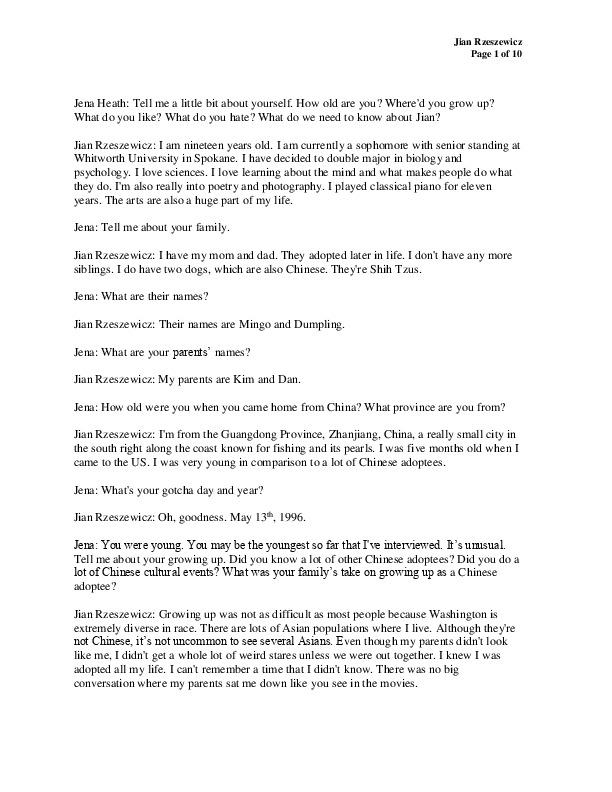 Jian's transcript