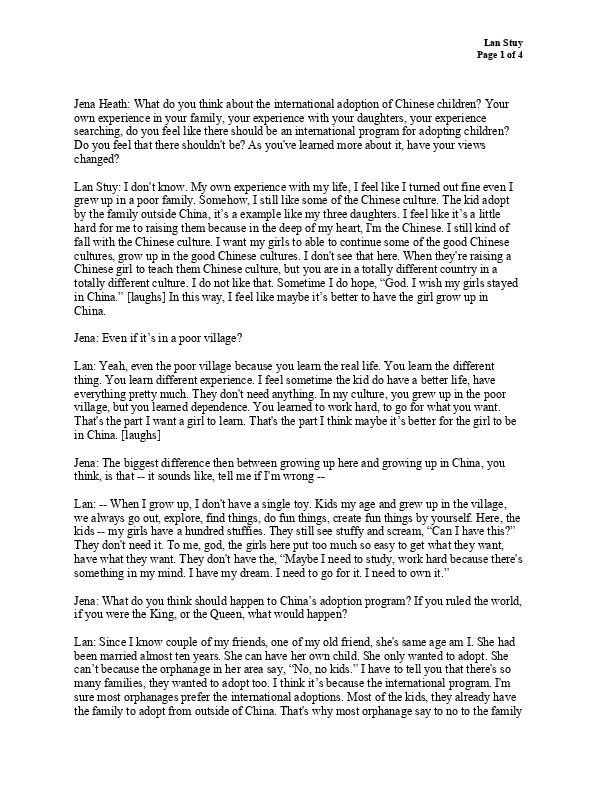 Longlan's transcript