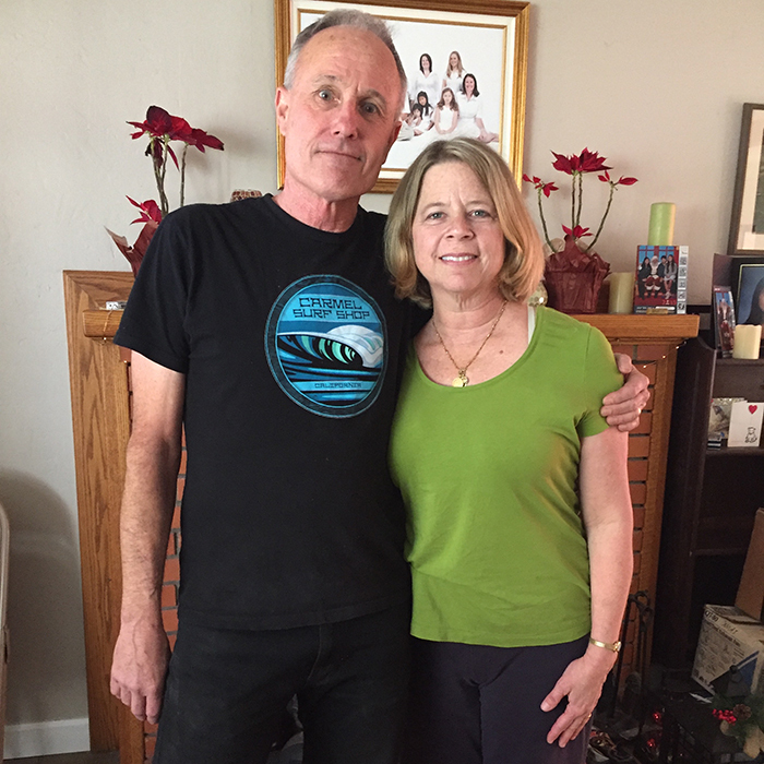 Kathryn Thompson and Scott Davis, parents