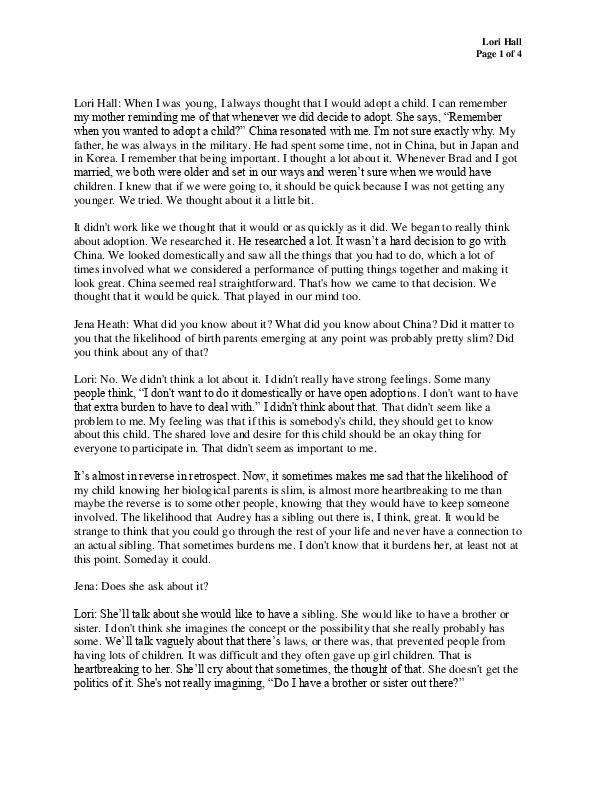 Lori's transcript