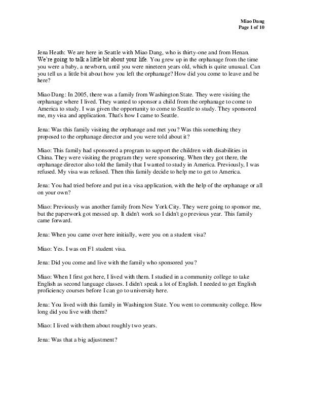 Miao Miao's transcript