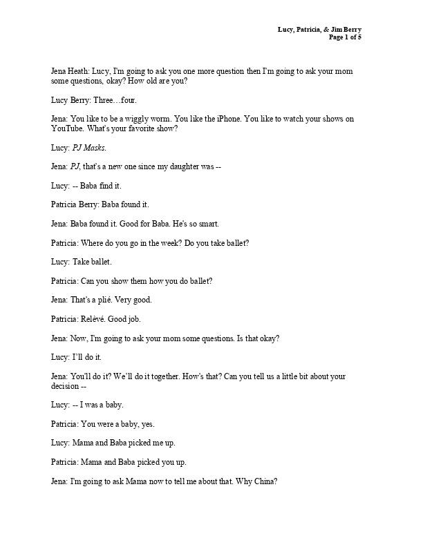 Berry family transcript