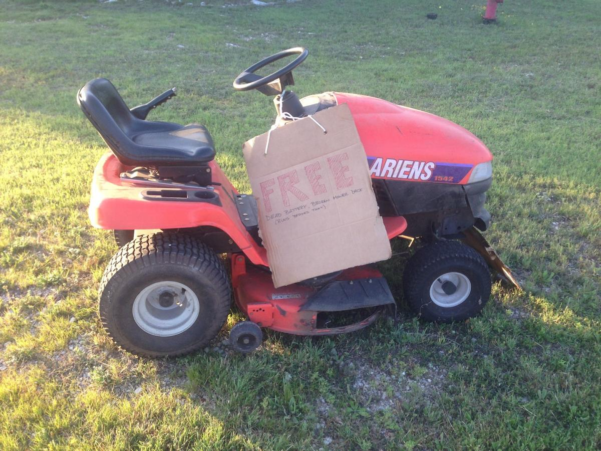 Broken Riding Lawnmower Free Non Reef Related Buy Sell Austin