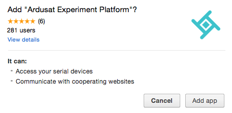 Image of the Add Experiment Platform pop up
