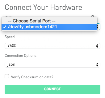Connect your hardware dialog box