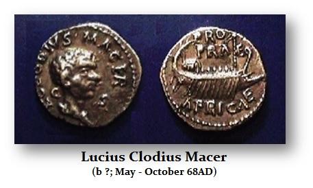 MACER Clodius - denarius
