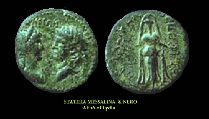 STATILIA MESSALINA - Nero AE16 of Lydia