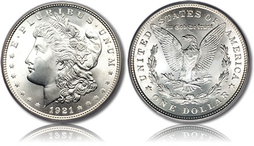 1921 Silver-Morgan-Dollar