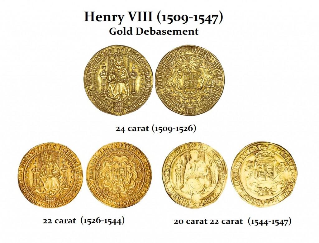 Henry VIII Gold Debasement