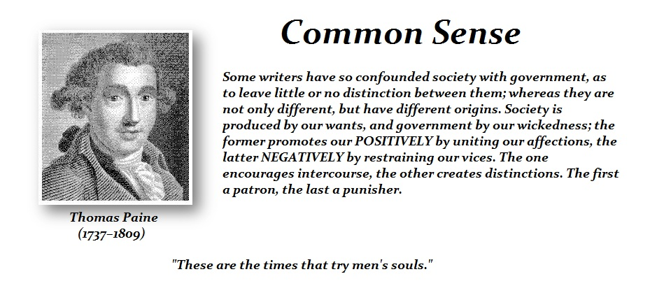 Common sense by thomas paine summary