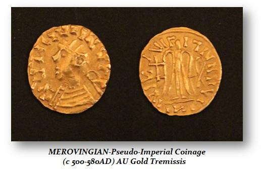 Merovingian Pseudo-Imperial (AU Tremissis)
