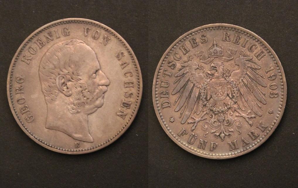 Saxony 1903 5m