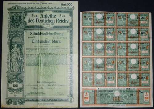 German 1918 8th War Bond
