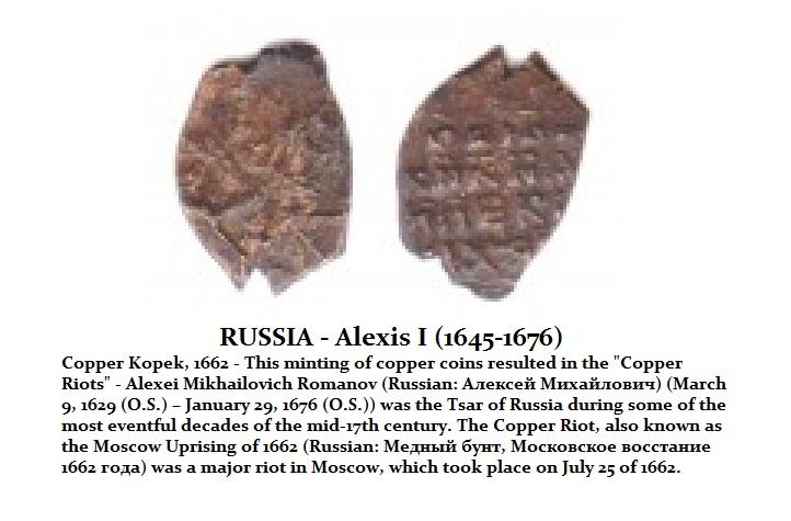 Alexis I Copper Riot 1662