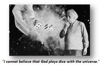 Einstein-I cannot believe that God plays dice with the universe