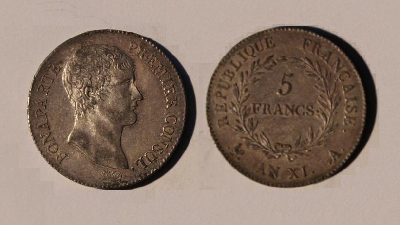 Napoleon Consul AN XI 5 Fr b