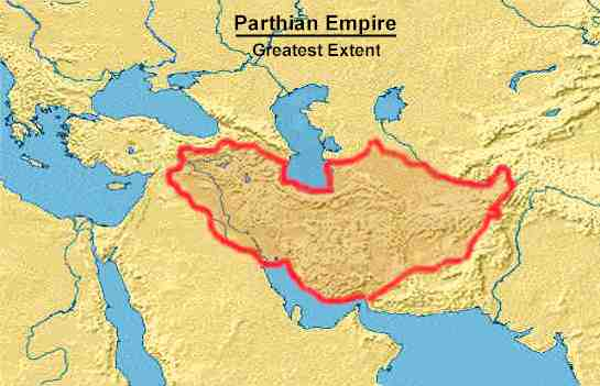parthian map