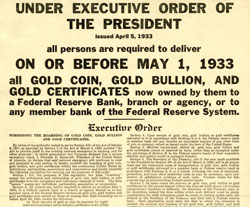 ExecutiveOrder Gold Confiscation