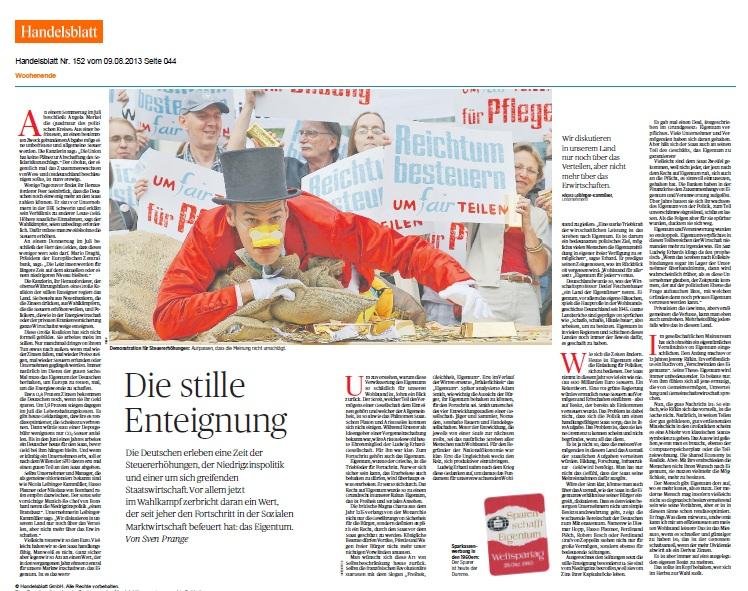 Handelsblatt 8-8-2013