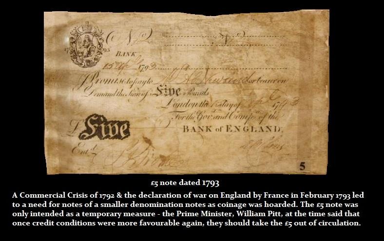 Emergency 5pound note 1793