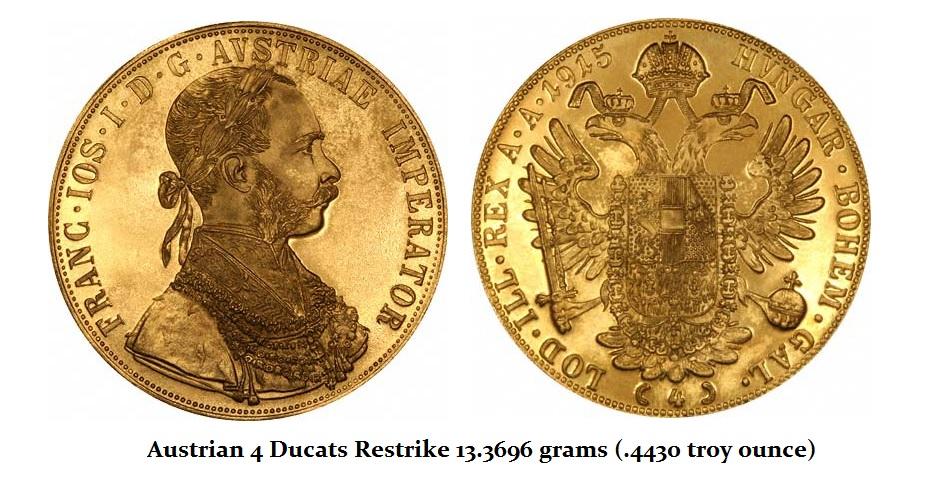 Austrian 1915 4 ducat