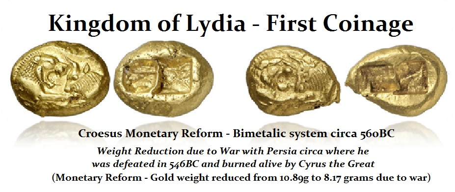 Croesus Staters Heavy-light Monetary Reform