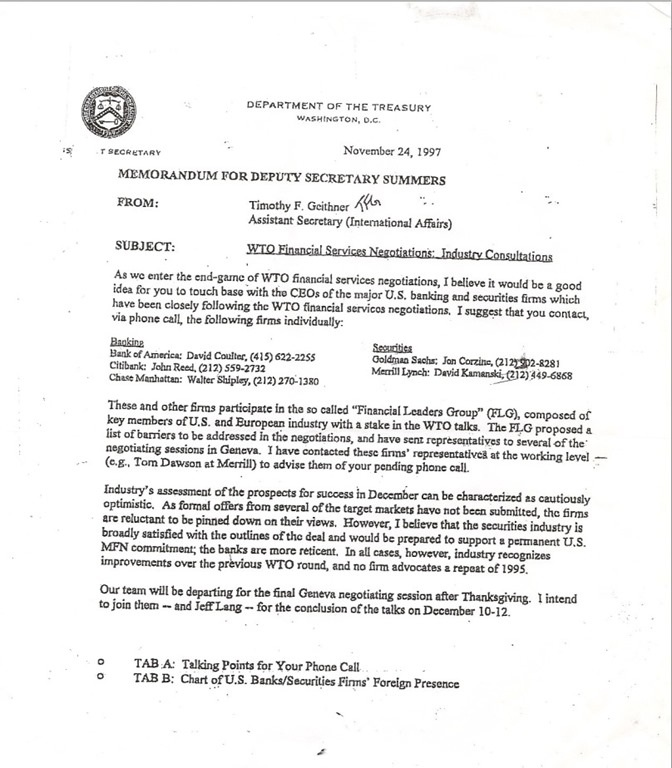 Geither-WTO Memo