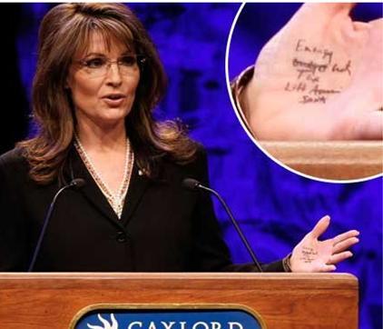Palin sarah-hand-notes