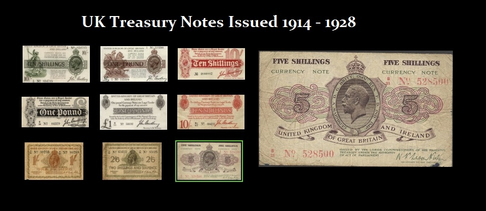 UK-Treasury Notes 1914-1928