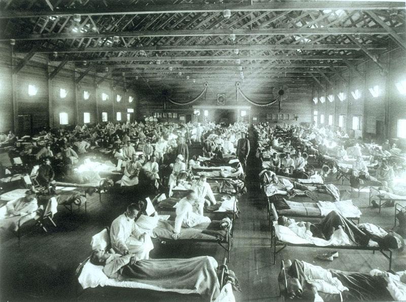 CampFunstonKS-InfluenzaHospital-1918