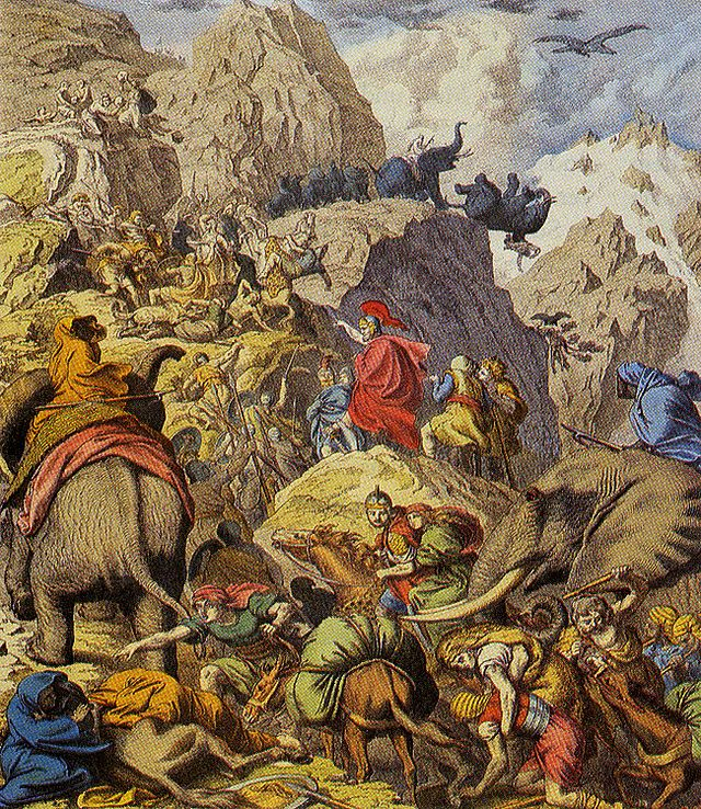 Hannibal-Crossing-Alps