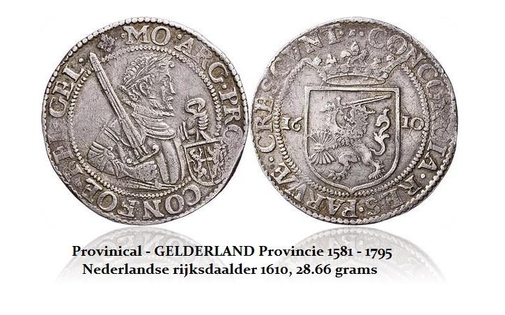 Netherlands Provinical - GELDERLAND Provincie 1581 - 1795