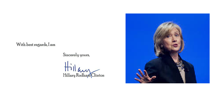 Hillary Clinton Signature