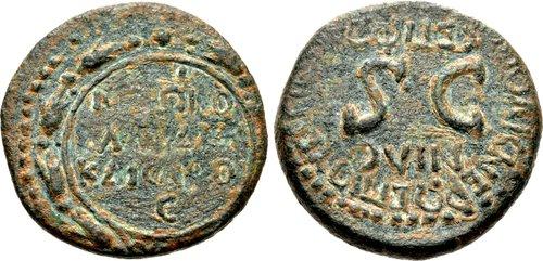 JUDAEA, Sepphoris (Diocaesarea) Nero AD 54-68 Æ (20mm, 5,08 g, 6h) Titus Flavius Vespasianus, procurator