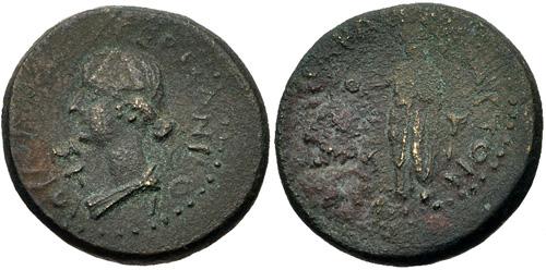 Julia-Livilla Mytilene AE 19