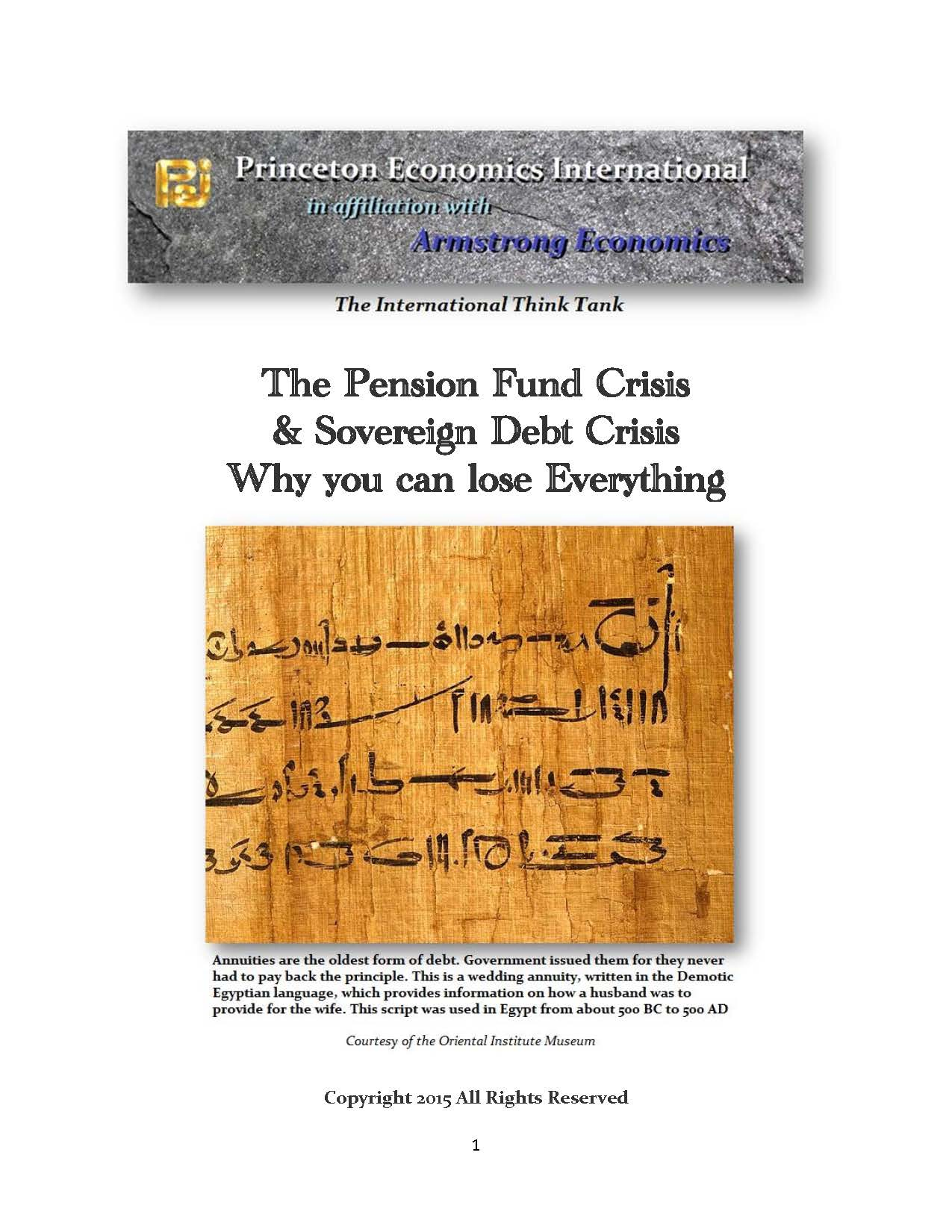 Pension Crisis Cover