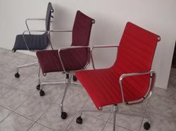 Cadeira Esteira modelo secretaria em couro tecido