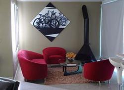 Ambiente - III Conjunto de sofás e poltronas Parisi e mesa de centro Noguchi