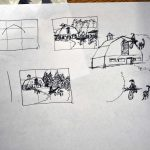 thumbnail sketches changing composition