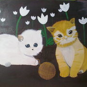 Los_gatos_by_asala95-d37r8be_card