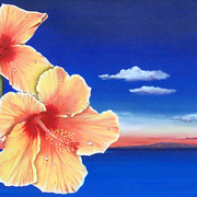 Hibiscus_triptych__acrylic__card