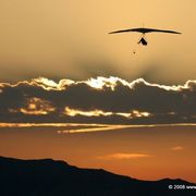 Flying_into_the_sunrise_card