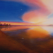 Sunset_clearing__acrylic__card