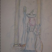 Old_sketch_maiden_and_vase_card