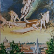 Resurrection_over_roma_after_michelangelo_by_kevin_murray_card