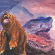 The_bear_watercolor_card