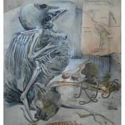 Flat_bird_memorial_-_mixed_media_card