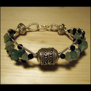 Aventurine_chips_bracelet_with_agato_card