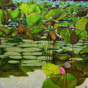 Lotus_pond_13________________90_x_90_cm_card
