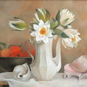 Still_life_with_water_lilies_shell_and_fruits-1159295577_card